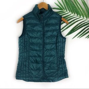 32 Degrees Packable Teal Vest Weatherproof Small